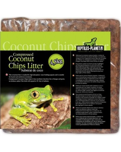 Compressed Coconut Chips Litter 4.5kg 890576 by Reptiles-planet color Non