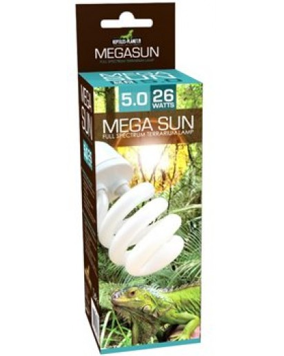 Mega Sun UVB 5.0 lamp - 26W (5% UVB 30% UVA) 870572 by Reptiles-planet color Non