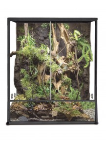 Terrarium aluminium Elegance 30x30x45 Black /Set up